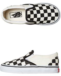 Vans Cso Blk&Wht Checker Board Tod Shoes, Black White