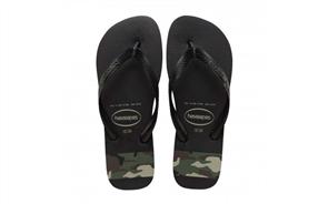 Havaianas Top Stripes Logo Camo, Black/Green/Olive