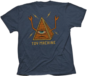 Toy Machine Pyramid Tee, Navy