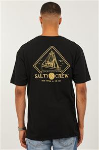 Salty Crew Trawlin Standard Short Sleeve Tee, Black