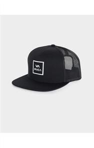 RVCA VA ALL THE WAY TRUCKER CAP, BLACK