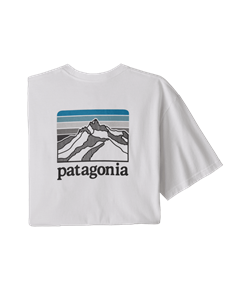 Patagonia Line Logo Ridge Pocket Responsibili-Tee, White