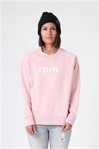RPM Womens Lowercase Crew Sweater, Blush