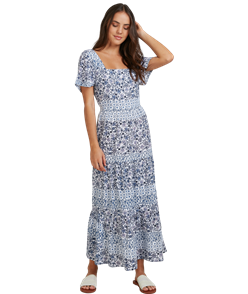 Roxy WE ARE LOVED DRESS, BRIGHT WHITE PAISLEY PARTY