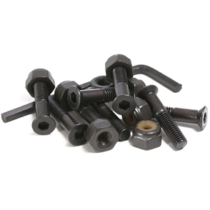 US 1 inch Bolts 8 Set, Black Allen Head