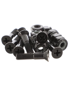 US 1 inch Bolts 8 Set, Black Phillips Head