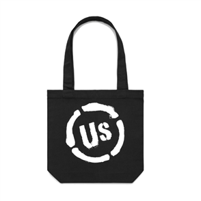 US ORIGINAL US TOTE BAG, BLACK