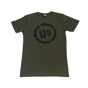 US ORIGINAL US LOGO MENS TEE, ARMY