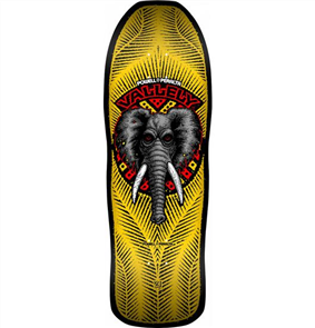 Powell Peralta Vallely Elephant Re-Issue Deck, Yellow