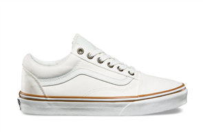 Vans Old Skool (Sun Faded) Shoes, Blanc / Blanc