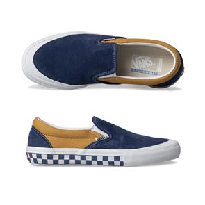 Vans Slip-On Pro Shoes, (Checkerb) True Navy Sunflower