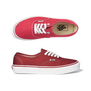 Vans Classics Plus Authentic Shoe, Red