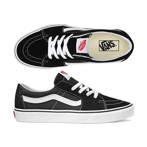 Vans SK8-LOW SHOES, BLACK/TRUE WHITE