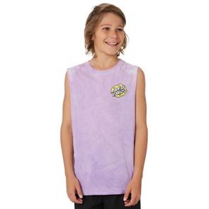 Santa Cruz Bone Slasher Muscle Singlet - Youth, Lilac
