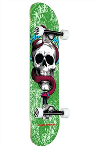 """Powell Peralta Skull & Snake One Off Green Birch Deck, Size 7.75"""""""