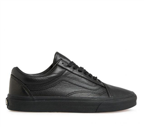 Vans OLD SKOOL LEATHER SHOES, BLACK/ BLACK