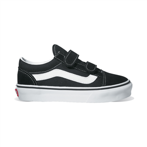 Vans Classics Plus Old Skool V Youth Shoe, Black White