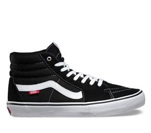 Vans Sk8-Hi Pro Shoes, Black White