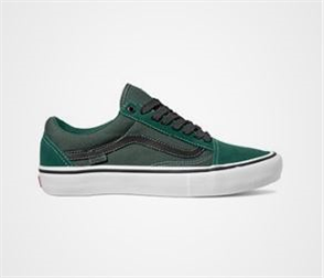 Vans Mens Old Skool Pro Trek Shoes, Green Black