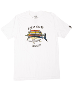 Salty Crew Voyager Short Sleeve Tee, WHITE