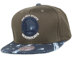 Mitchell Ness GOLDEN STATE WARRIORS STAINED DENIM EARTH CAP, OSFA