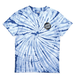 Santa Cruz Conjurer Tie Dye Youth Tee, Blue