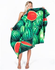 LEUS 100% Cotton Digital Print Beach Towel, Watermelon