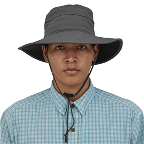 Patagonia Baggies Brimmer Hat, Forge Grey
