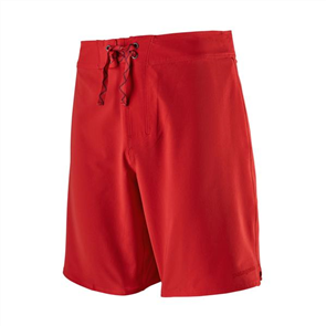 Patagonia Mens Stretch Hydropeak Boardshorts 18inch, Fire