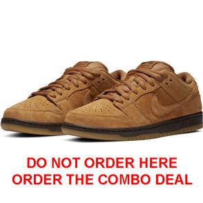 Nike SB DUNK LOW PRO MENS SHOE, Wheat/Flax/Baroque Brown