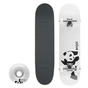 "Enjoi Whitey Panda Complete Skateboard, White 7.75"""