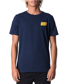 Rip Curl Undertow Stack Short Sleeve UV Tee, 0049 Navy