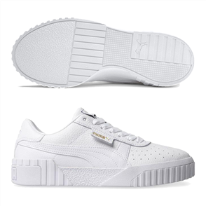PUMA Womens Cali Shoe, White/White