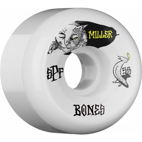 Bones SPF Miller Guilty Cat Shape P5 Wheels, Size 58mm