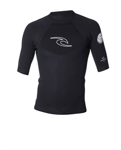 Rip Curl Dawn Patrol 1.5mm Short Sleeve Jacket, Black