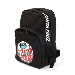 Santa Cruz Eyeball Backpack Youth, Black