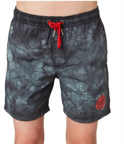 Santa Cruz Conjurer Tie Dye Youth Short, Black