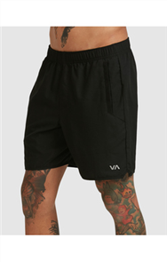 RVCA YOGGER IV SHORT, BLACK
