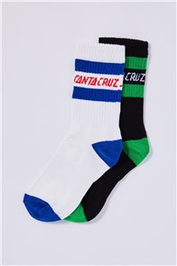 Santa Cruz CLASSIC STRIP YOUTH SOCK 2Pairs, Assorted