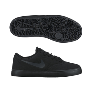 Nike Youth SB Check Canvas (GS) Shoe, Black Black