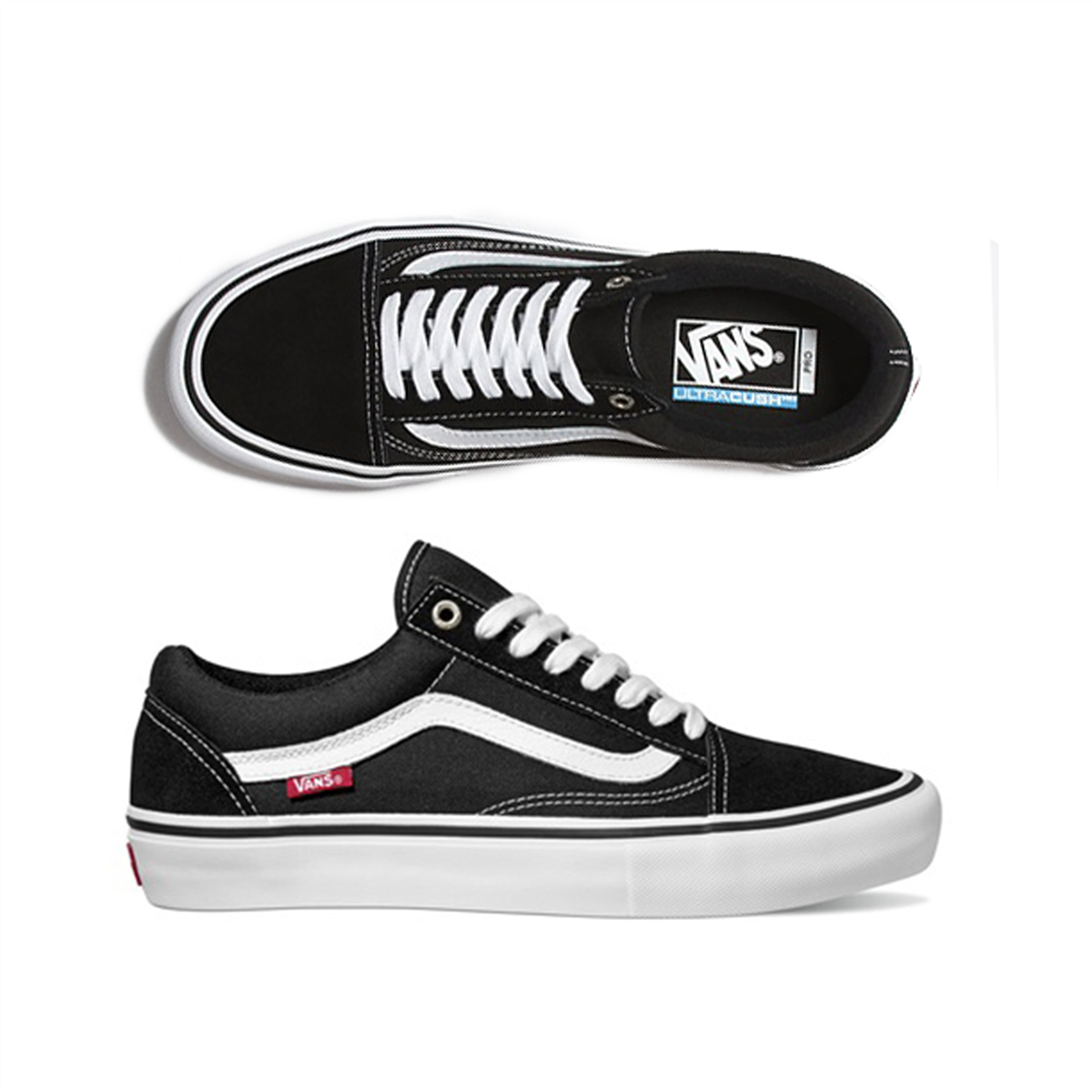 Vans Old Skool Pro Shoes Black White