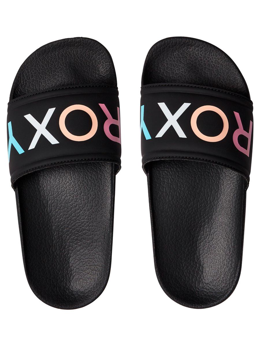 Roxy Girls Slippy G Slide, Black Multi